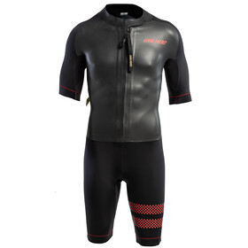 Colting Wetsuits Swimrun Go Traje Triatlón Hombre, black/red